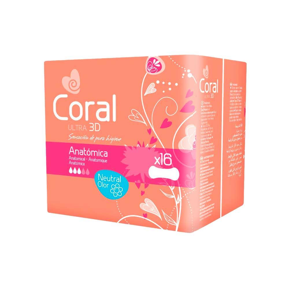 Compresa Coral Ultra Anatómica 16 unds   Tiendas Colores