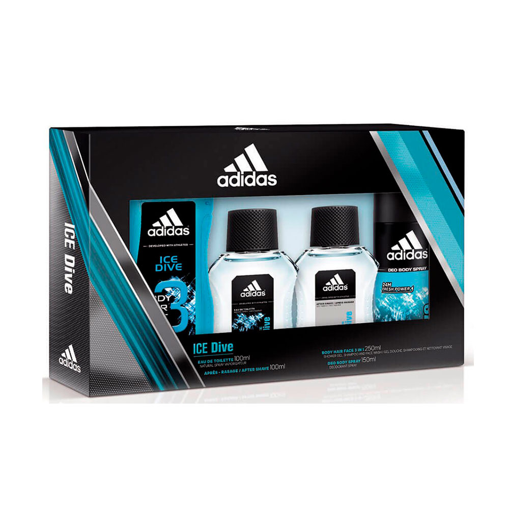 Estuche Adidas Ice Dive Eau + After Shave + Body + Deo